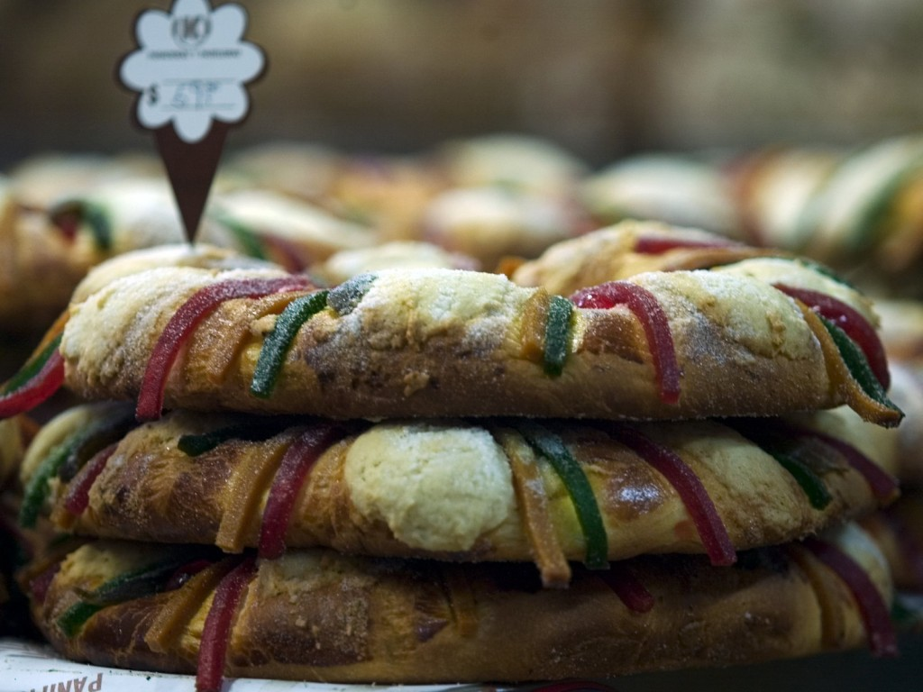 A rosca de reyes cake on display at a bakery in Mexico City. The cake is the signature dish of Three Kings Day celebrations in many parts of Latin America. Photo: Jam Media/CON/LatinContent/Getty Images