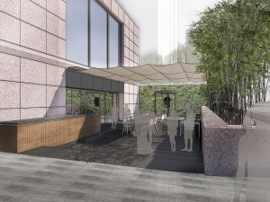 Courtyard - rendering by Oglesby Greene Architects