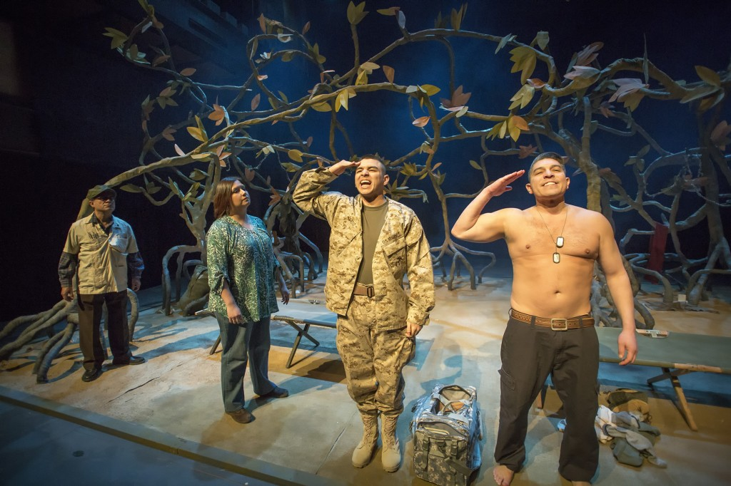 The Company of ELLIOT, A SOLDIER'S FUGUE at WaterTower Theatre. Photo: Jason Anderson