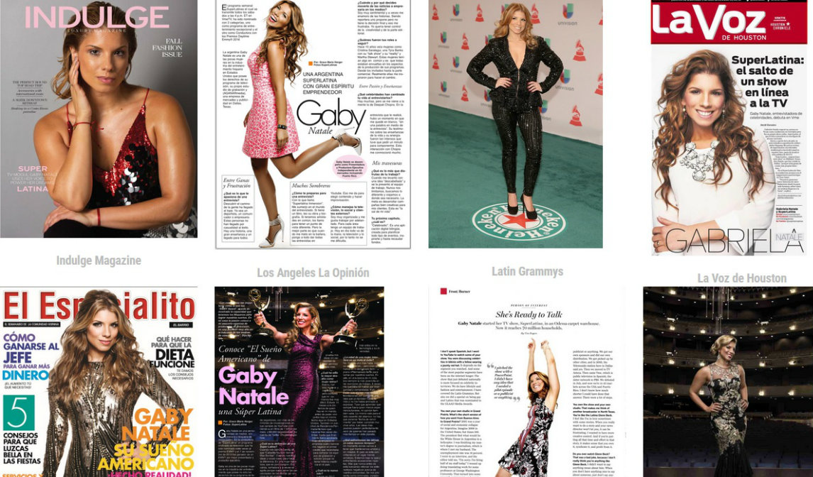 Gaby Natale magazine covers and features