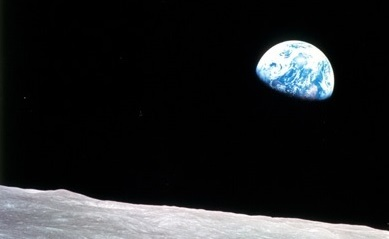 The Earth rising over the Moon from Apollo 8, NASA