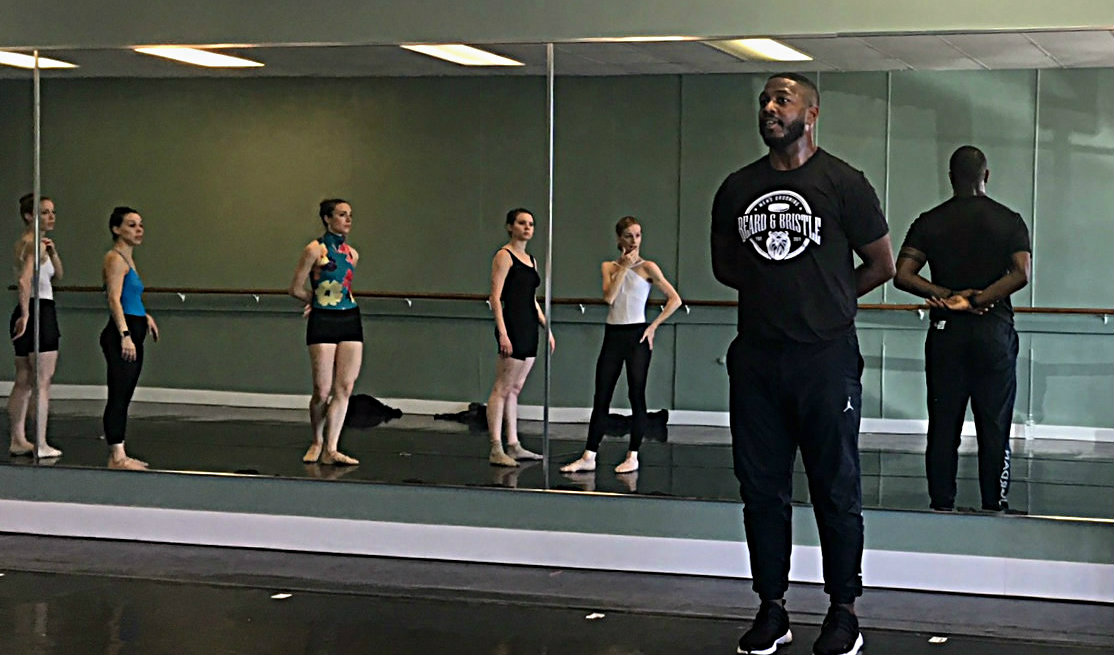 Giovanni Allen and the DNCB dancers