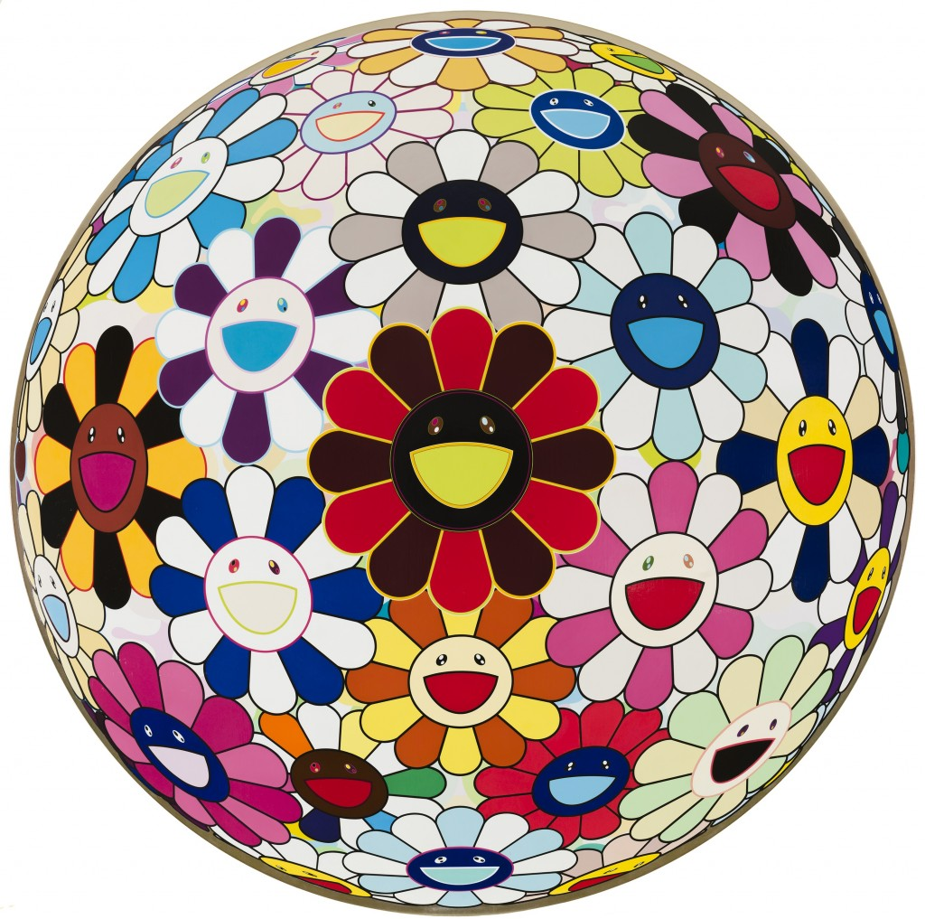 Takashi Murakami Flower Ball Lots of Colors 2008 Photo Nathan Keay