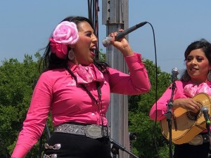 Mariachi Rosas Divinas performing at Fort Worth's Holy Name Church. Photo: Hady Mawajdeh