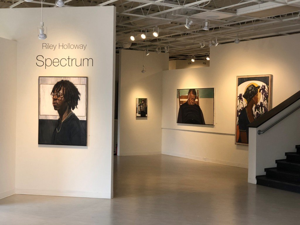"""Photo from Riley Holloway's latest solo exhibition at Fort Works Art. The show's titled 'Spectrum."""" Photo: Hady Mawajdeh"""