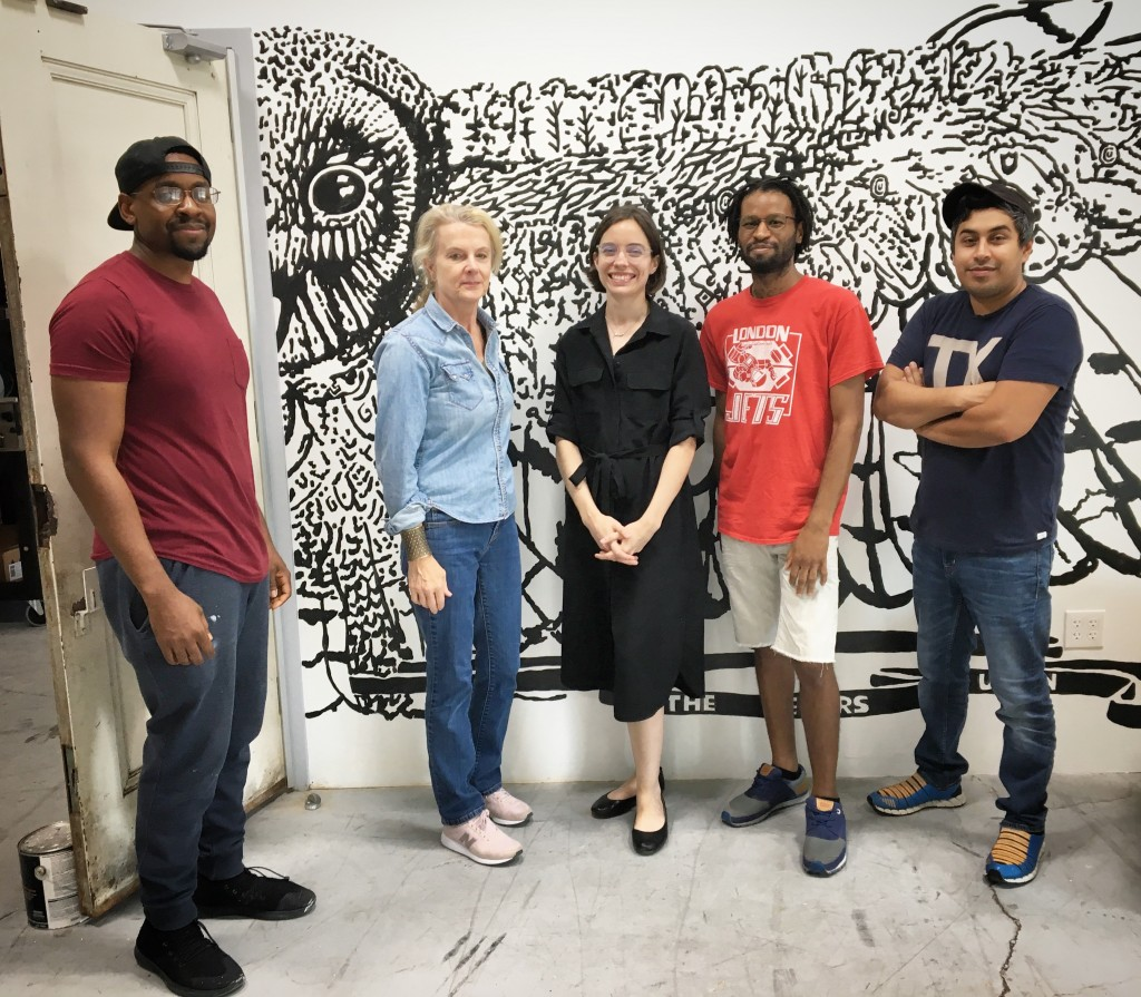 cedars union artists Riley Holloway, Melissa Drumm, Laura Lawson, Kevin Owens and Hatziel Flores. Photo: Erica Felicella.