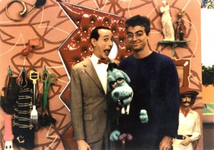 "Wayne White and ""Pee Wee's Playhouse"" creator Paul Reubens. Photo: Wayne White"