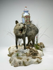 """The Stilling Engine"" is a piece of rogue taxidermy made by Eric and Morgan Grasham. Photo: Hady Mawajdeh"