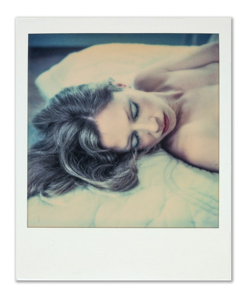 A Polaroid photo taken of Carol Black by Paul Black.