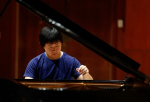 Shuan Hern Lee from Australia during the Cliburn International Junior Piano Competition Piano Tryouts in Caruth Auditorium at SMU in Dallas, Texas. Photo: Ralph Lauer courtesy The Cliburn