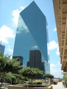 Fountain Place in Dallas – designed by I. M. Pei and his partner Henry Cobb.