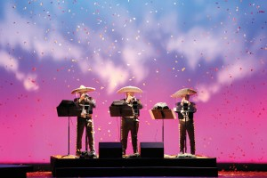 Photo of the world famous Mariachi Vargas de Tecalitlán ensemble performing in 'Cruzar la Cara de la Luna' at Fort Worth Opera. Photo: Karen Almond/Fort Worth Opera