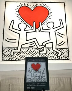 "A photo of the Arlington Museum of Art's signature work for the ""Keith Haring: Against All Odds"" exhibition. The work is untitled, but is often referred to as ""Big Love."" Photo: courtesy Arlington Museum of Art"