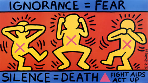 "Keith Haring's ""Ignorance = Fear."" Photo: © Keith Haring Foundation"