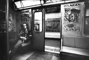 Keith Haring Subway Drawing ca. 1984 Photographed by Tseng Kwong Chi