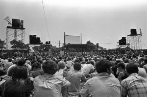 The crowd at the 1969 Texas International Pop Festival in Lewisville. Photo: Courtesy City of Lewisville.