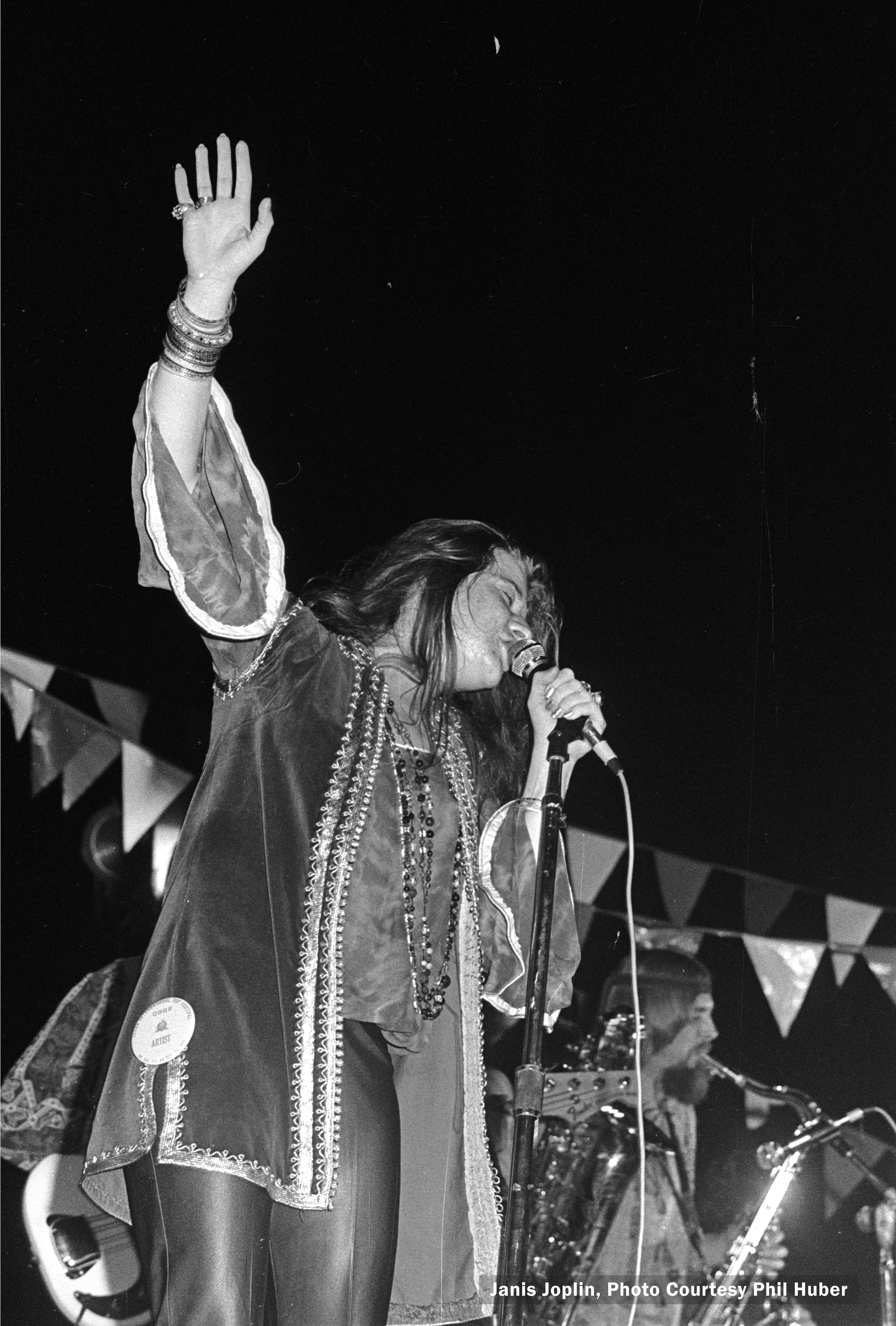 Janis Joplin at Texas International Pop Fest. Photo: Courtesy of Denton County Office of History and Culture.