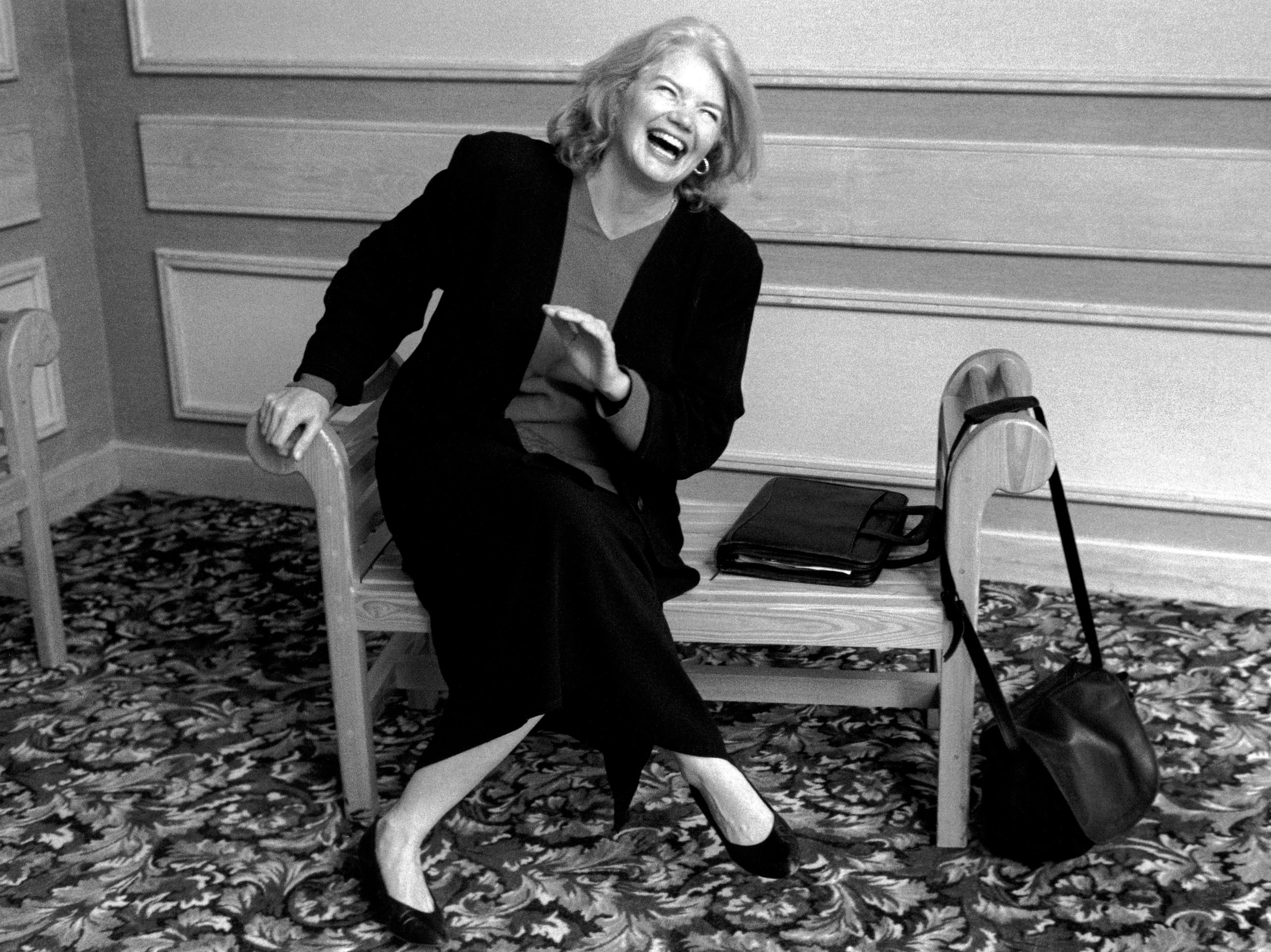 The late opinion journalist Molly Ivins, a syndicated columnist and public speaker, is the subject of the new documentary film Raise Hell. Photo: Robert Bedell/Magnolia Pictures