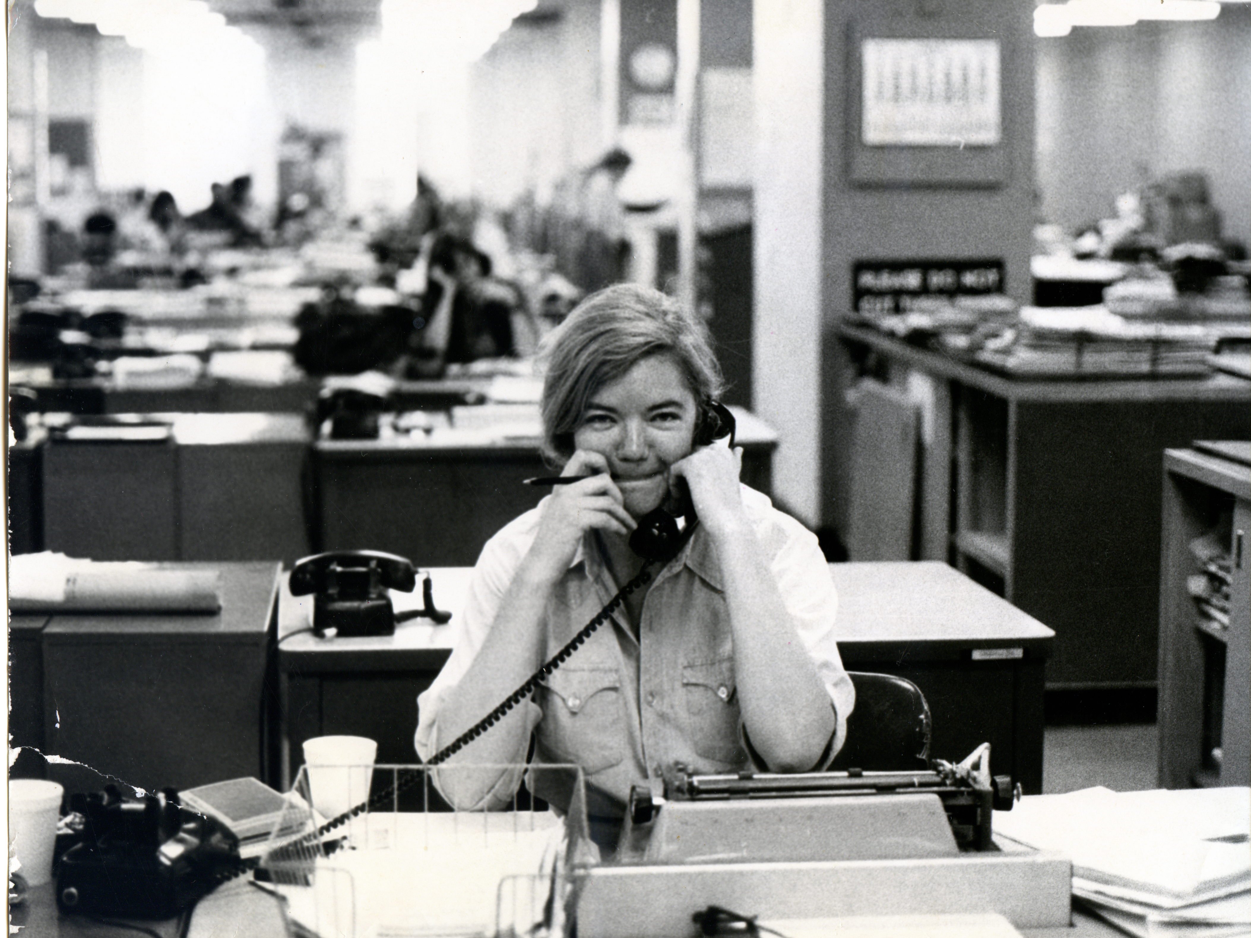 Following her time at the Texas Observer, Ivins had a stint in the newsroom of The New York Times from 1976-82. Photo: Molly Ivins Collection, Briscoe Archives/Courtesy of Magnolia Pictures