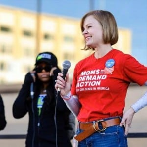 Amanda Johnson at a protests. Photo: contributed by Amanda Johnson