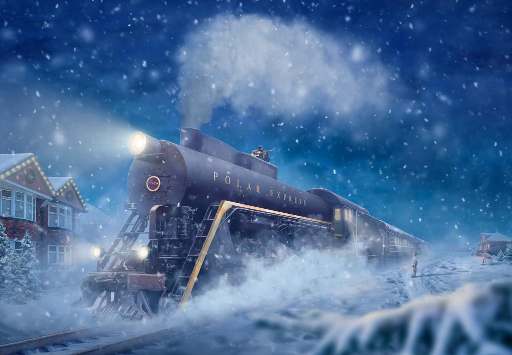The Polar Express train.
