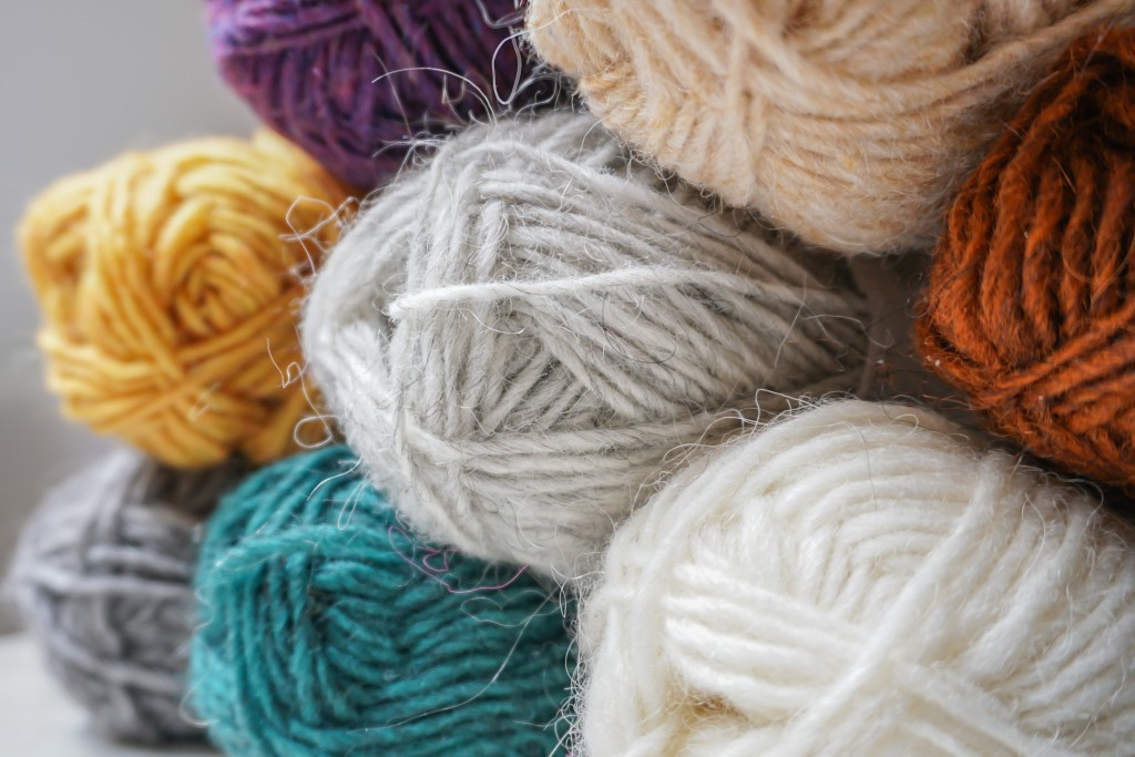 Photo of colorful yarn.