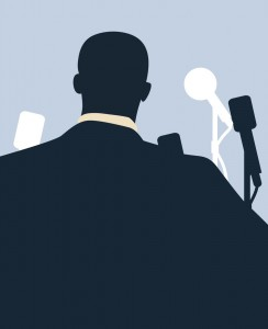 drawing silhouette image of Martin Luther King